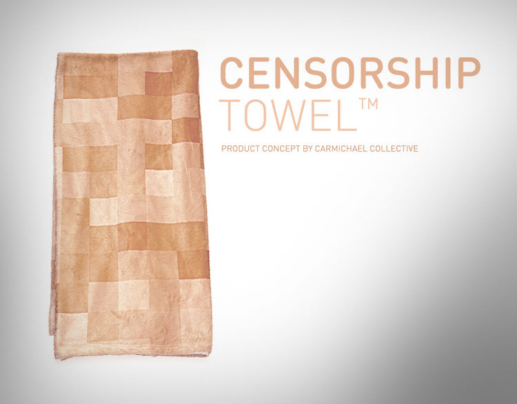 Censorship Towel - Pixelated Bath Towel