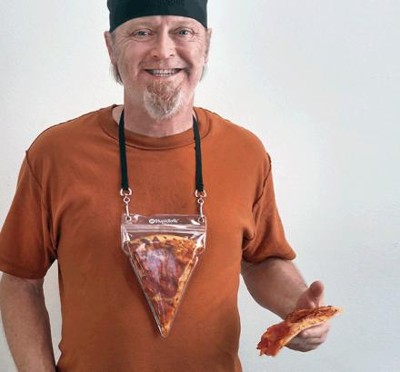 Portable Pizza Pouch: A Pizza Slice Holding Lanyard