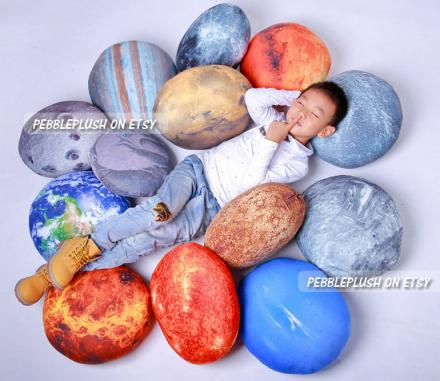 Planet Pillows Let You Feel The Cozy Warm Embrace of Space