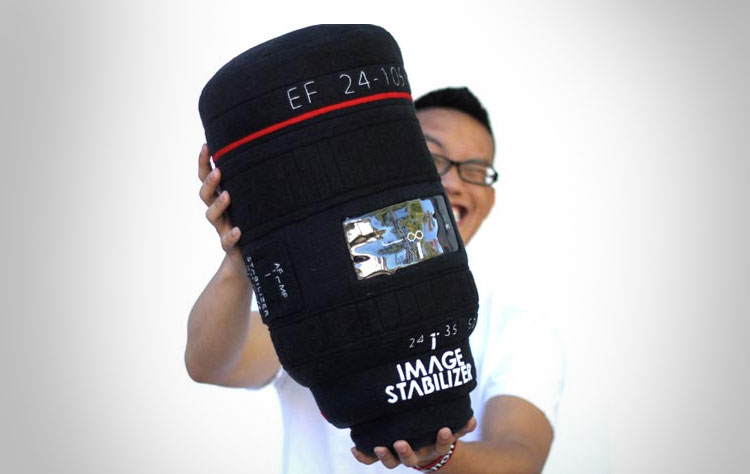 Plushtography DSLR Camera Lens Pillow