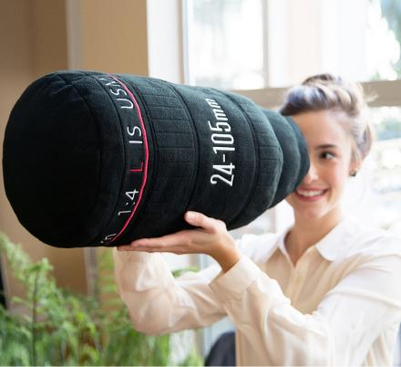 Plush Camera Lens Pillow