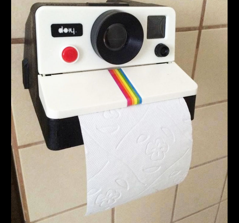 The Polaroll Is A Toilet Paper Dispenser That Looks Just Like A Polaroid  Camera, And Is Perfect For Turning Your Bathroom Into A Fun Retro Place For  Pooping ...