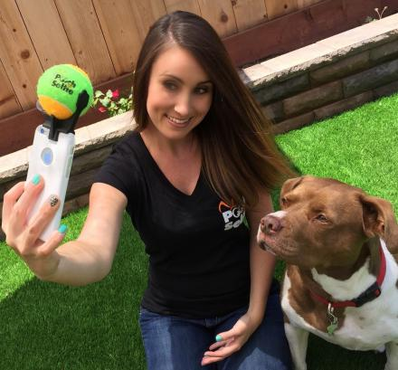 Pooch Selfie Holds A Ball On Your Phone For Easy Selfies With Your Dog