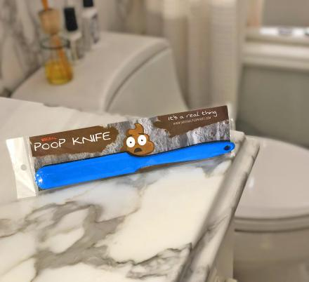 There's Now a Poop Knife That'll Help You Get Your Poo Down The Toilet
