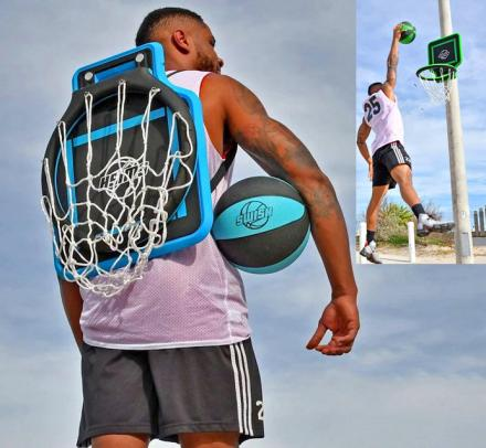 Portable Basketball Hoop You Can Wear Like a Backpack
