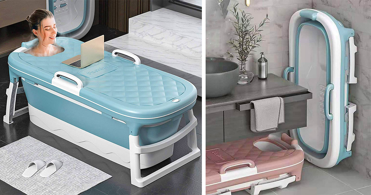 This Portable Folding Bathtub Is Perfect For Tiny Homes