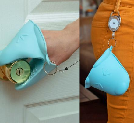Would You Wear a Portable Retractable Safety Mitt To Help You Not Touch Anything?
