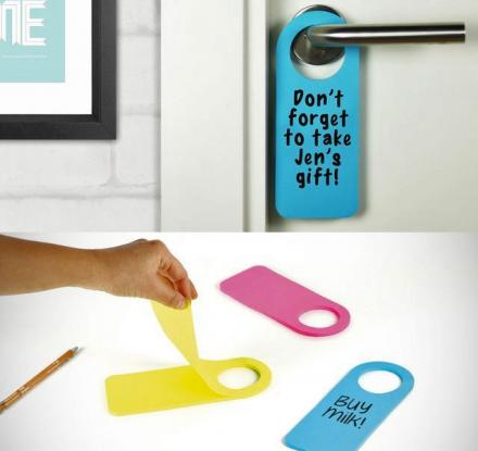 Post-It Note Door Hangers