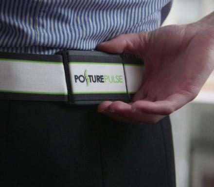 Posture Pulse Is A Posture Sensor Worn On Your Waist