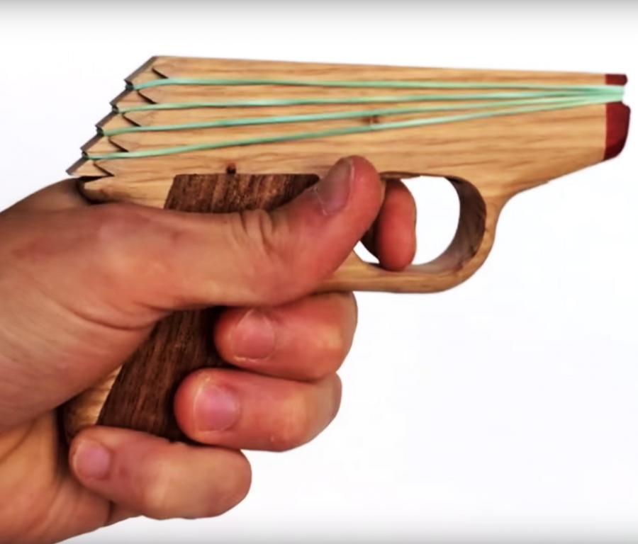 Elastic Precision Semi Automatic Rubber Band Hand Gun