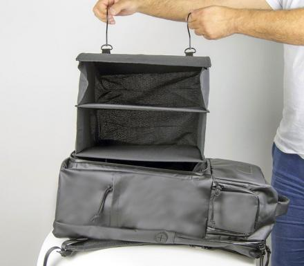 Progo Smart Travel Backpack With Integrated Removable Shelf