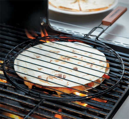 Quesadilla Griller Basket Lets You Make 'Dillas On The BBQ