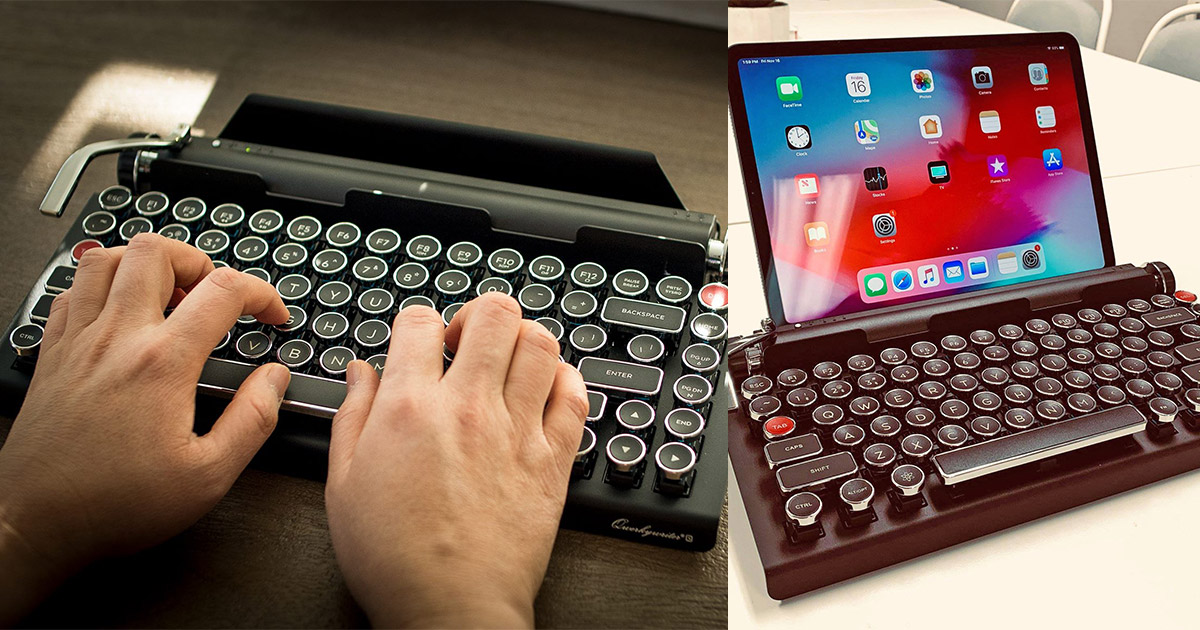 Qwerkywriter Keyboard Looks and Clicks Like a Vintage Typewriter