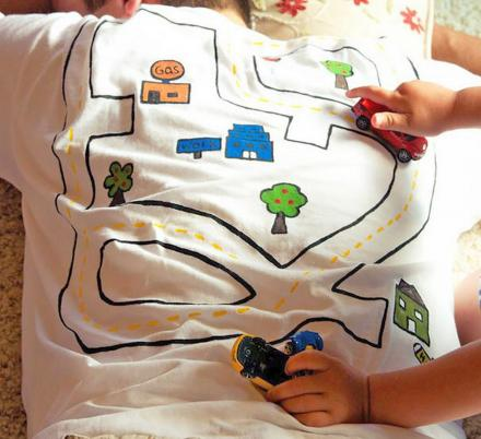 These Race Track T-Shirts For Dad Lets Dad Nap While The Kids Play