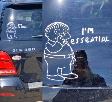 This Ralph Wiggum I'm Essential Car Decal Sticker Is Just What The World Needs Right Now
