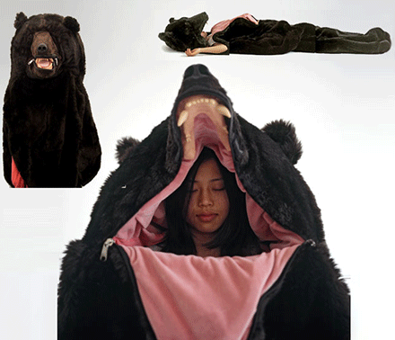 Realistic Bear Sleeping Bag
