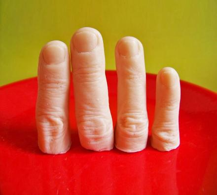 Realistic Severed Finger Soap Bars