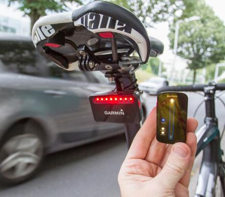 Rearview Bicycle Radar Warns Of Approaching Cars From Behind