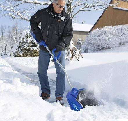This Rechargeable Electric Snow Shovel Lets You Easily Clear Walkways, Decks, and Patios