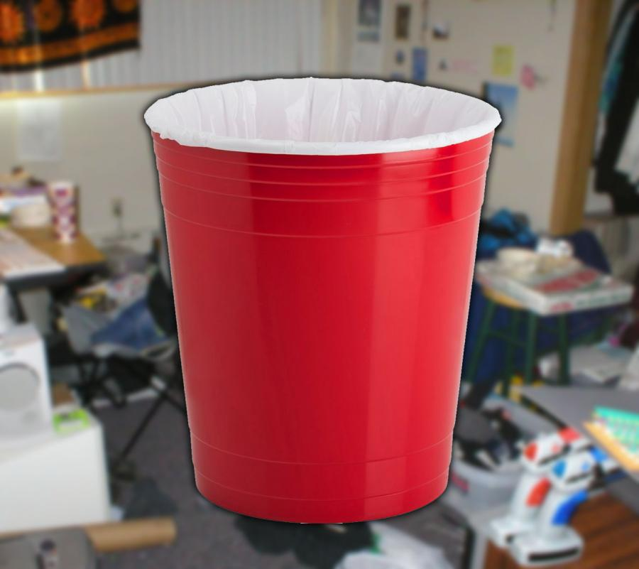 Red Solo Party Cup Garbage Can