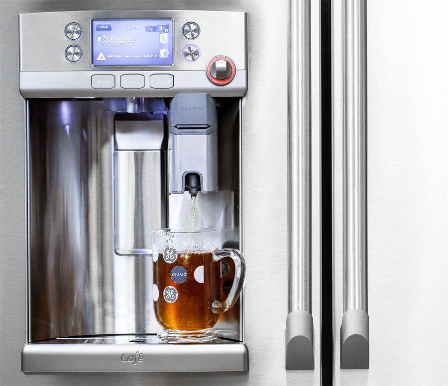 Refrigerator With Built In Keurig K