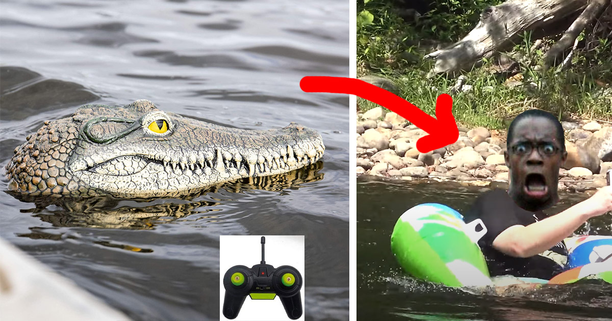 This Remote Control Crocodile Head Lets You Create Epic Pranks In a Lake or River