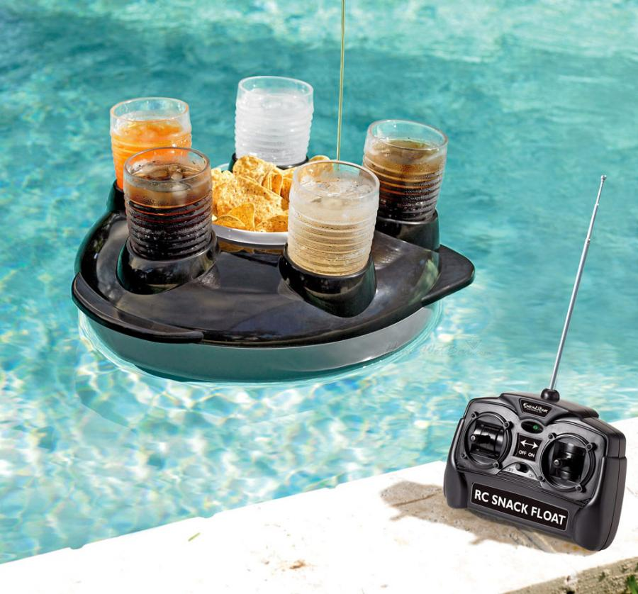 Remote control floating snack and drink holder for Accessoire piscine fun
