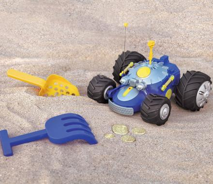 Remote Controlled Metal Detector Car For Lazy Treasure Hunting
