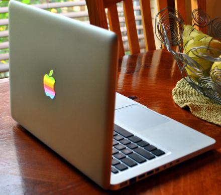 Retro Apple Logo Macbook Decal