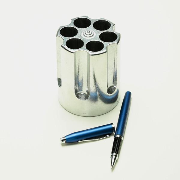 Revolver Cylinder Pen Holder