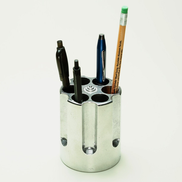Revolver Barrel Pen Holder