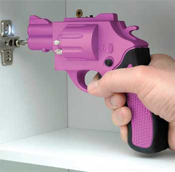Revolver Shaped Screwdriver Drill