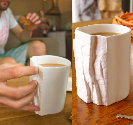 Rock Climbers Pinch Hold Mug
