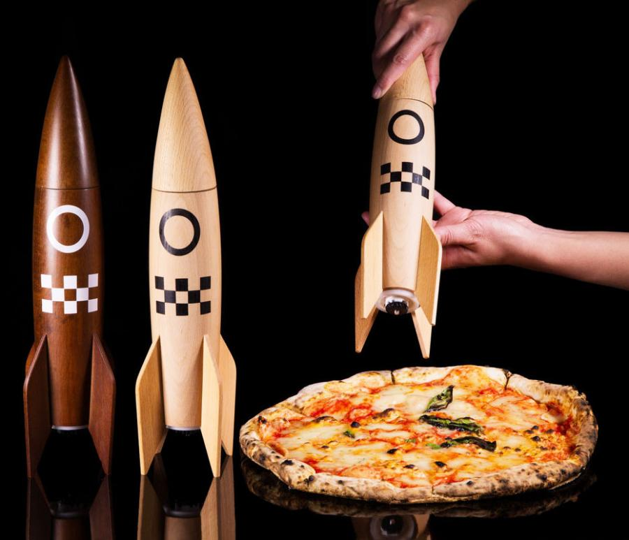 Rocket Ship Salt And Pepper Grinders