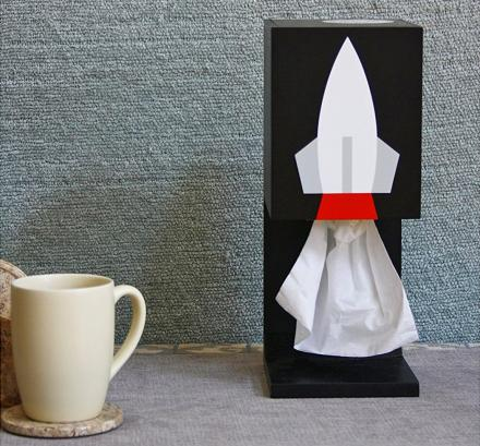 Rocket Ship Tissue Dispenser
