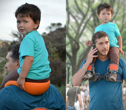 SaddleBaby: A Hands Free Shoulder Carrier For Your Child