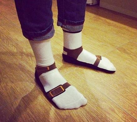Sandal Socks: Socks That Make It Look Like You're Wearing Birkenstock Sandals