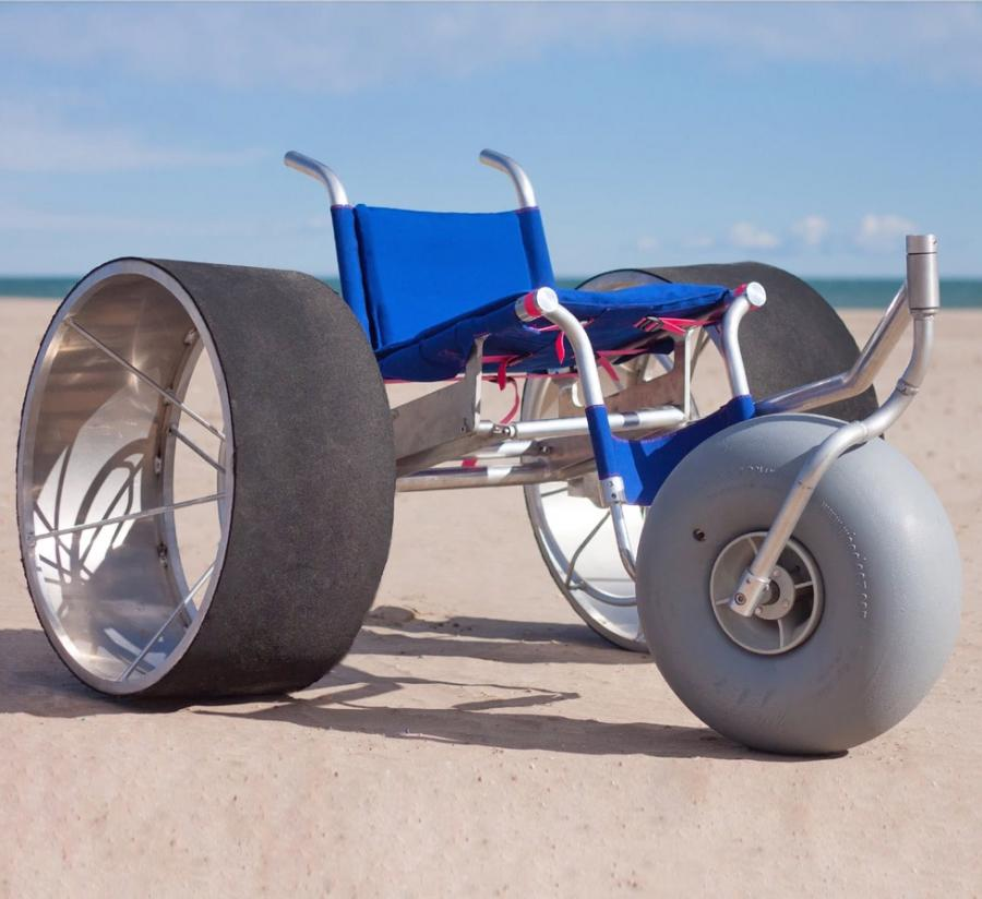 Sandroller A Giant Wheeled Beach Wheelchair