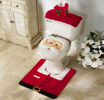 Santa Toilet Cover And Rug Set