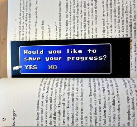 'Save Your Progress?' Geeky Video Game Bookmark