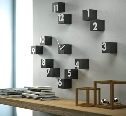 Scattered Numbers Wall Clock