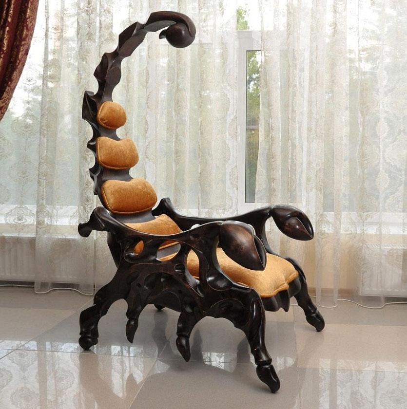 scorpion chair rh odditymall com