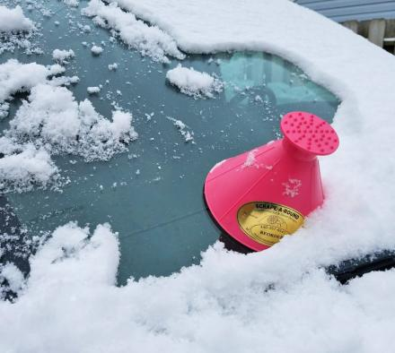 Scrape-a-Round: Magic Cone-Shaped Windshield Ice Scraper