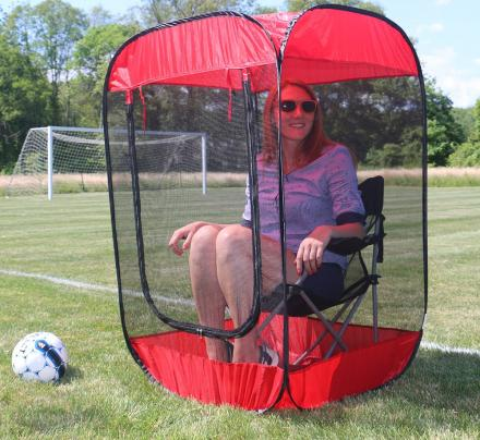 Screened In Chair Tent Protects You From Bugs And Gives