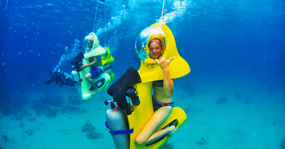 This Company In The Bahamas Offers Incredible Tours Using Underwater Scooters