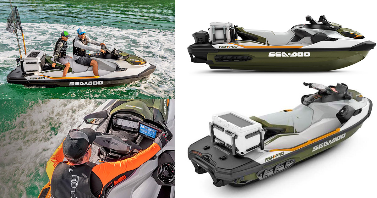 Sea-Doo Now Makes a Fishing Jetski With Dedicated Fish Cooler, GPS, and Fish Finder