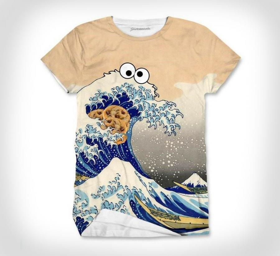 Sea Is For Cookie T Shirt Cookie Monster Ocean Wave Shirt