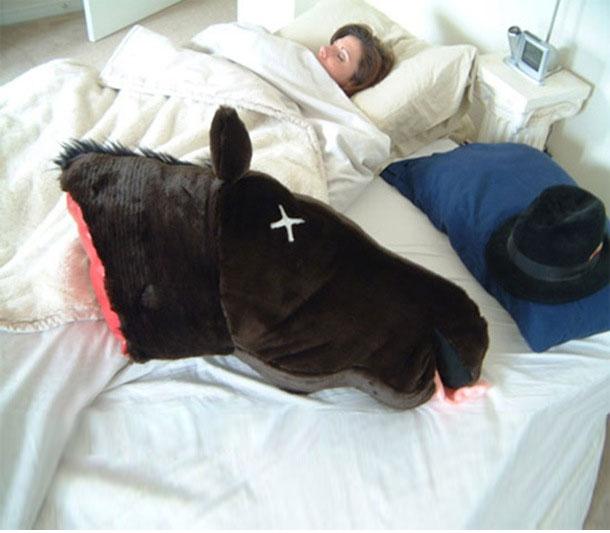Severed Horse Head Pillow