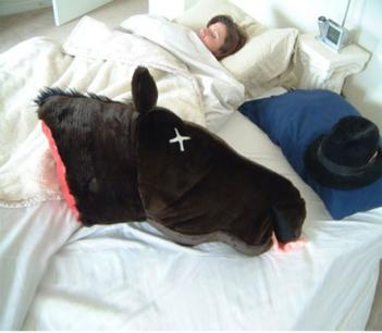 Severed Horse Head Pillow