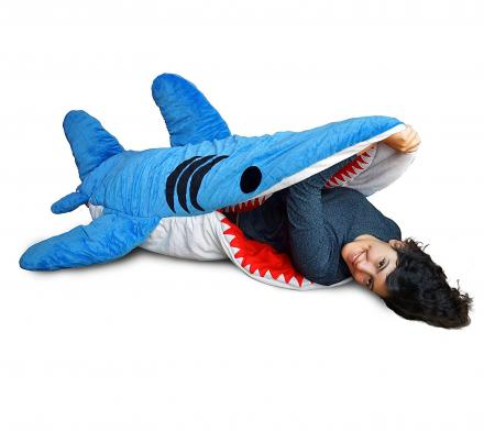 Shark Bite Adult Sleeping Bag Makes It Look Like You